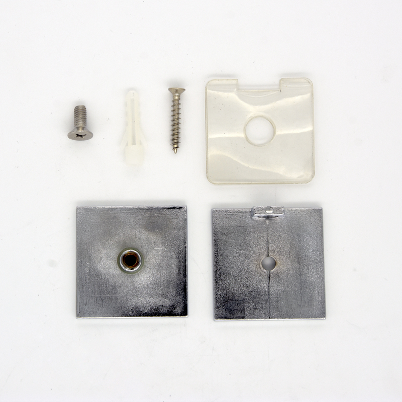 Square Shower Door Glass Clips GC-7-0AS