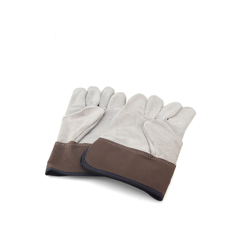 Glass safety glove leather Industrial work gloves GGL-F1