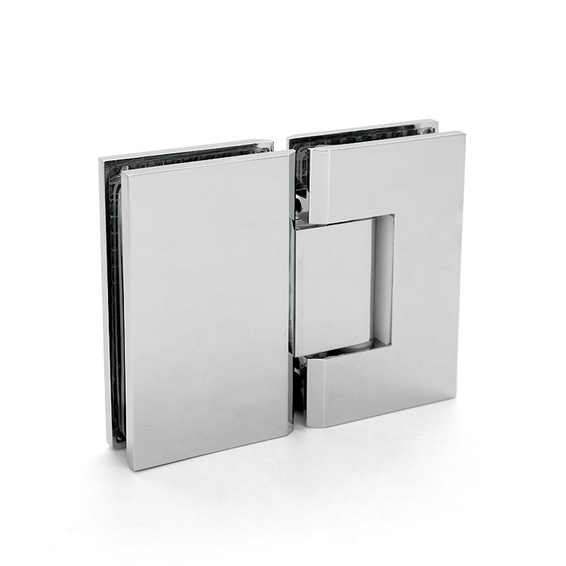 glass door hinge brass shower hinge D square cutouts SH-2-180