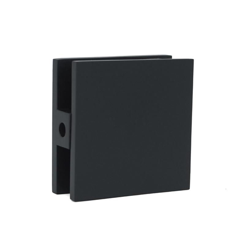 Solid Brass Black Shower Door Glass Clips GC-7-0AS ORB
