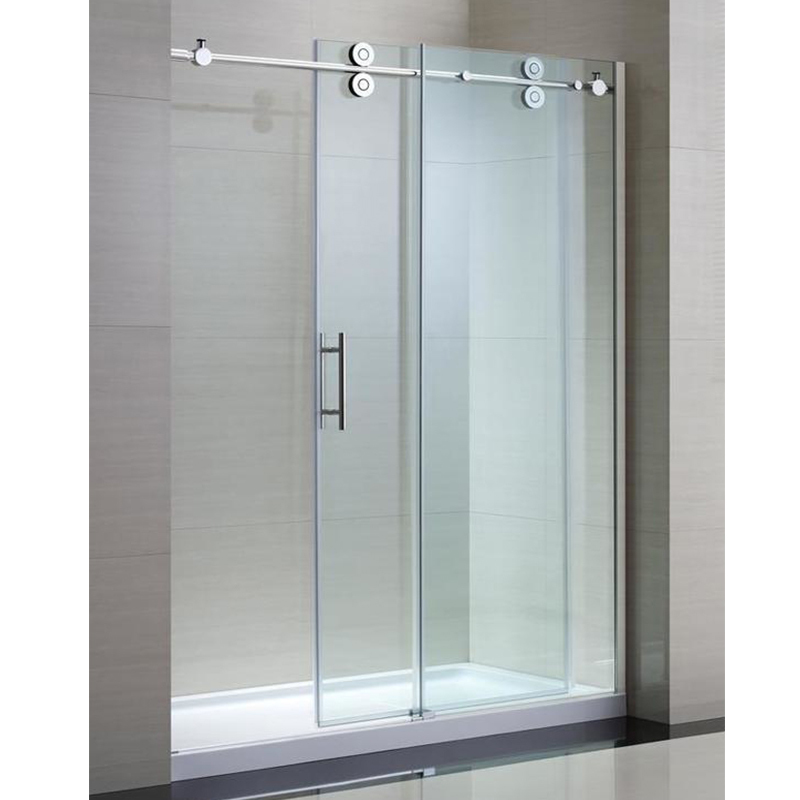 Double wheels Sliding Shower Glass Door Stainless Steel 304 KA-S012