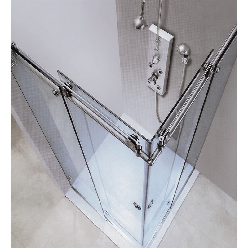 90 degree Bathroom Sliding Glass Door Stainless Steel 304 KA-S005