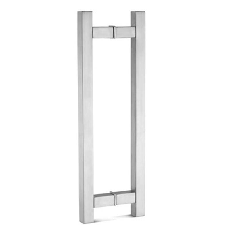 Square Tube H Ladder Glass Door Pulls Handles GDH-02S